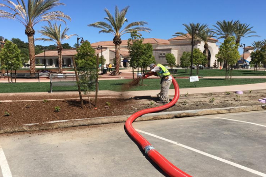 MULCH BLOWING SERVICES AVAILABLE